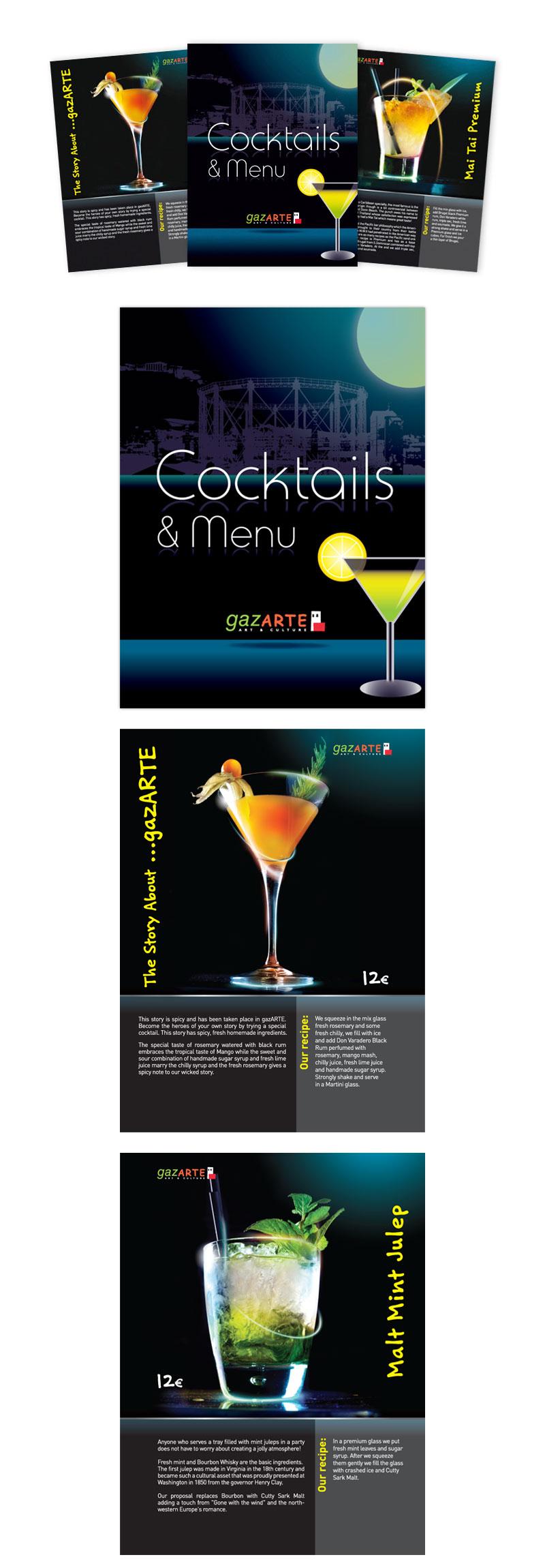 Gazarte_coctail_menu
